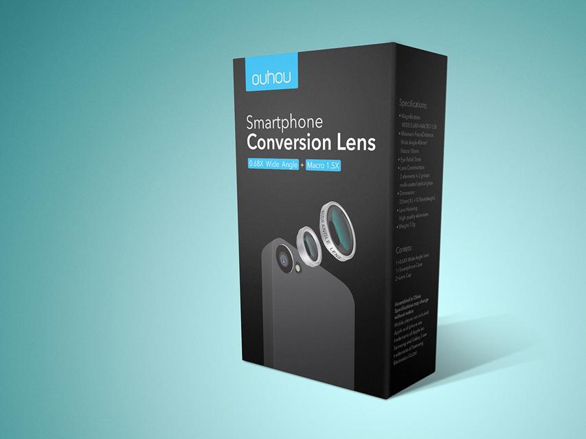 手机镜头 数码产品包装设计图片
